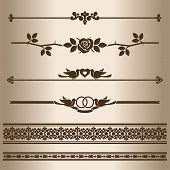 stock photo of divider  - Decorative lines - JPG