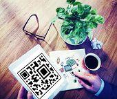 image of qr codes  - QR Code Marketing Data Identity Concept - JPG