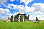 picture of stonehenge  - Stonehenge an ancient prehistoric stone monument near Salisbury Wiltshire UK - JPG