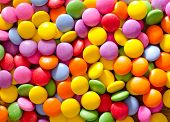 picture of easter candy  - color candy on wooden background - JPG
