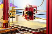 foto of electrical engineering  - 3d printer close up 3D print concept - JPG