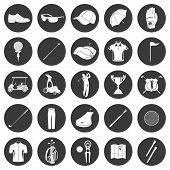 pic of car symbol  - Golf game sport and activity icons set isolated vector illustration - JPG
