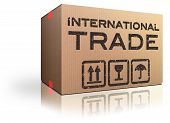 foto of international trade  - International trade and global transport Logistics freight transportation import and export market - JPG