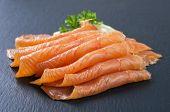 stock photo of blubber  - smoked salmon - JPG