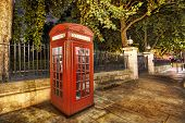 image of phone-booth  - Traditional english phone booth with the London Center - JPG