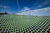 foto of partition  - links net web network chain netting seine sky - JPG