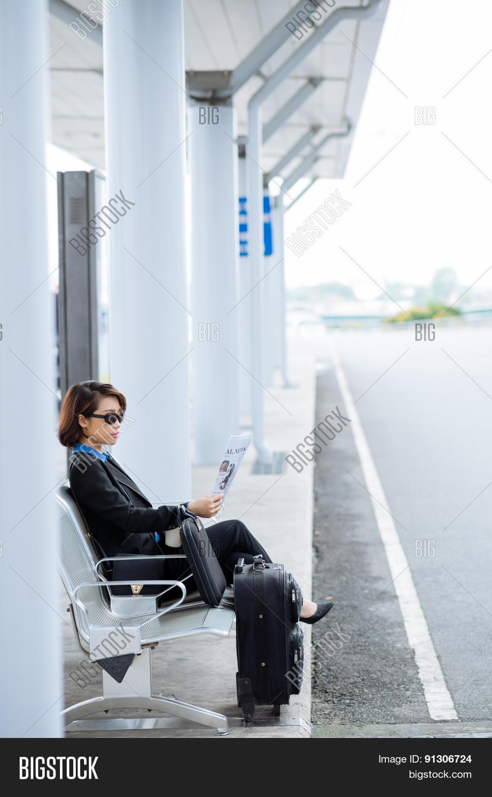 автобусе в бизнес леди