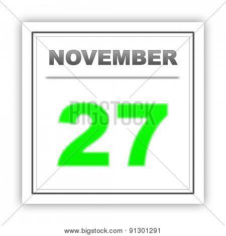 November 27. Day on the calendar. 3d