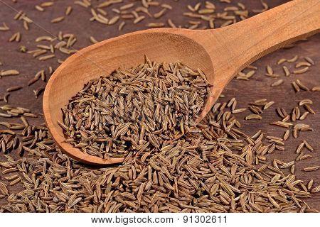 Cumin Seeds In A Spoon