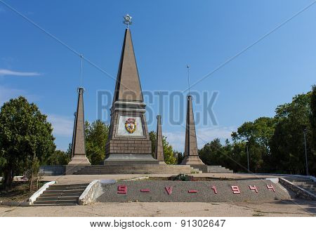 Sevastopol, Crimea - September 02, 2011: Monument Of Glory Soldiers Of The 2Nd Guards Army