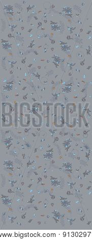 Seamless pattern in renaissance style. Floral seamless fabric design