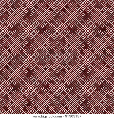 Red And White Square Geometric Repeat Pattern Background