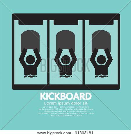 Kick Board Black Symbol.