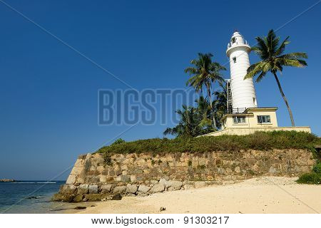 Galle Lighthouse In Fort Galle, Sri Lanka
