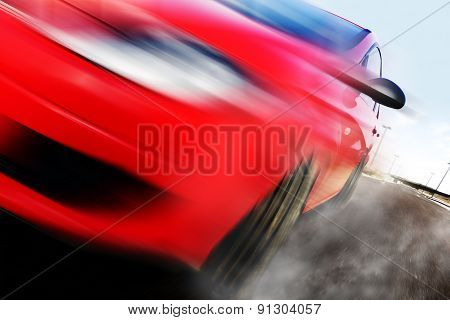 Red car and speed