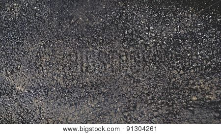 texture of the asphalt