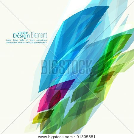 Abstract background with colored crystals