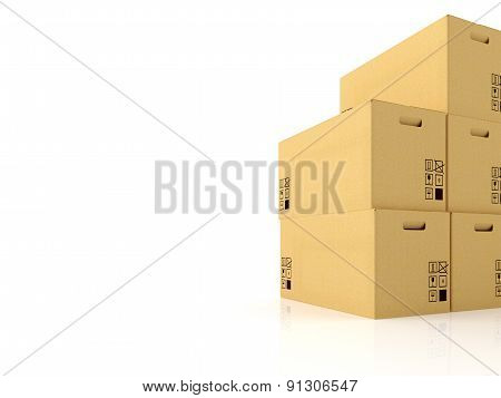 moving boxes. 3d rendering