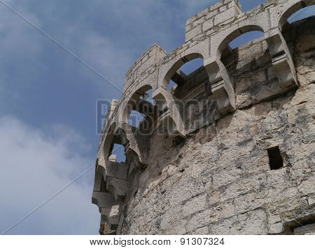 A detail of one of the towers of Korcula