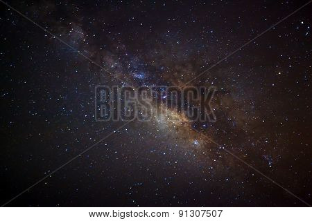 The  Milky Way galaxy, Long exposure photograph
