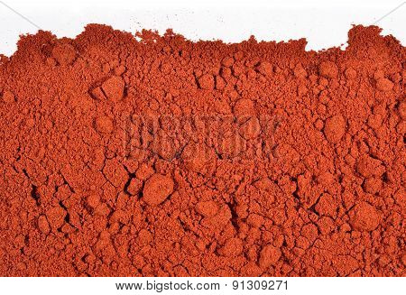 Heap Of Ground Paprika On A White