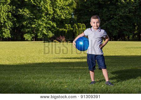 Boy children playing ball
