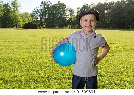 Boy children playing ball