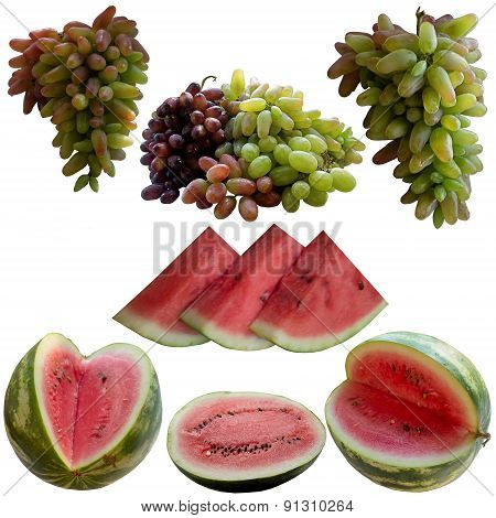 Water-melons And Grapes.