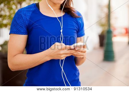Runner Listening To Music