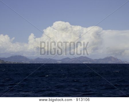 Seascape With Hills