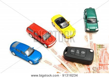 Four Cars, Keys And Russian Banknotes