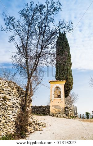 Italian Traditional Votive Temple In The Countryside