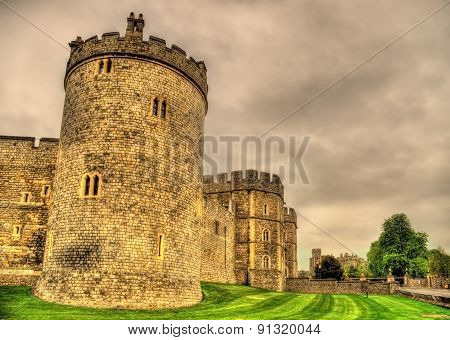 Towers Of Windsor Castle Near London, England
