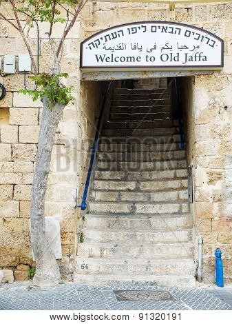 Entrance To The Old City Of Jaffa