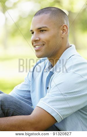 Young African American Man In Park