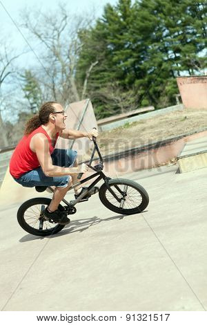 BMX Rider Having Fun