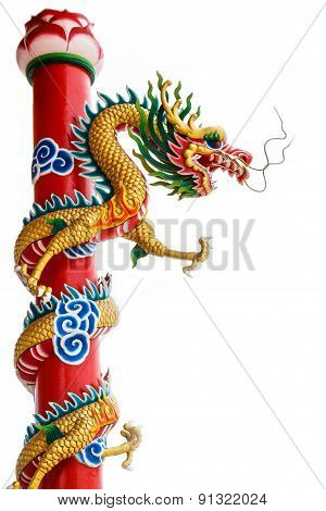 dragon on pole