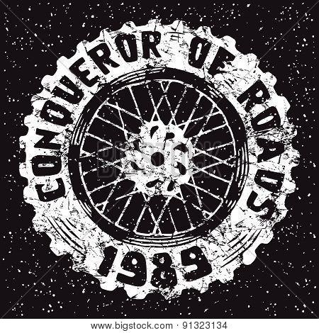 Motorcycle Wheel Emblem