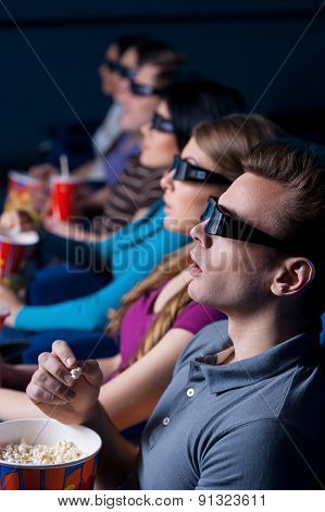 People Watching Three-dimensional Movie.