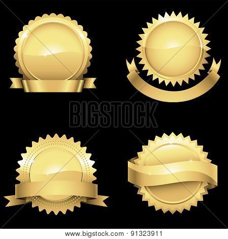 Glossy Gold Seals