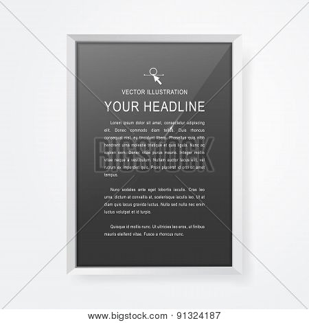 Realistic Modern Frame For Your Text Or Picture.