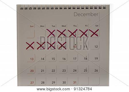 Mark X On Calendar