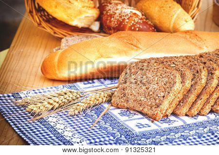 Various bread and pastry