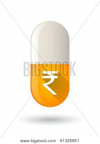 Yellow Icon With A Rupee Sign