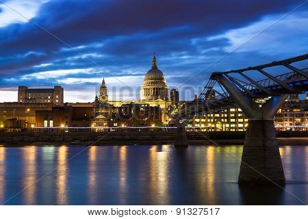 Twilight At St. Paul's Cathedral