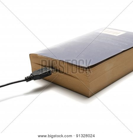 Usb Cable And Book