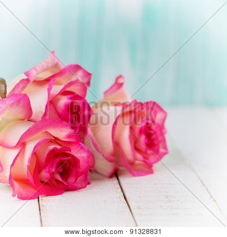 Postcard With Elegant  Flowers And Empty Place For Your Text