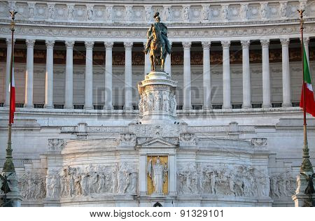 The Monument Of Victor Emmanuel Ii, Venezia Square,  In Rome, Italy