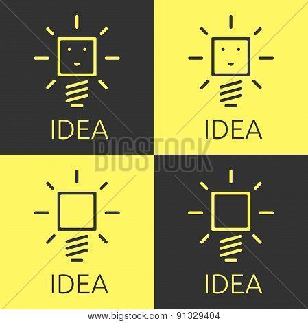 Glowing Light Bulbs Set