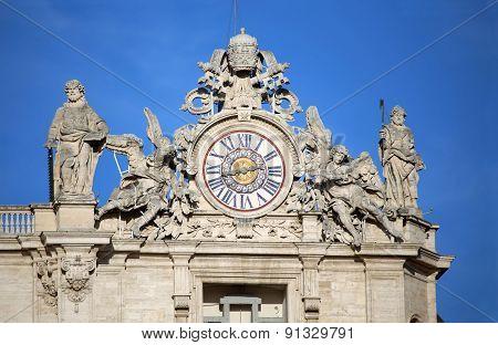 St. Peter's Basilica. Vatican City, Rome, Italy